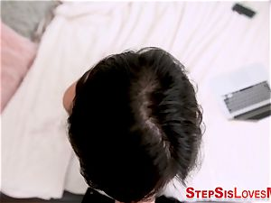 brazilian stepsister gets spunk