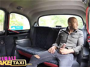 gal faux cab hefty dark-hued man-meat creampie