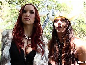 Alison Tyler and Jayden Cole are girl/girl vikings