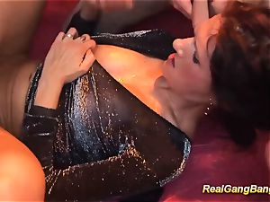 Rreal deep-throat group sex hump