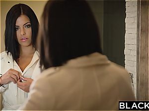 black-haired Adriana Chechik takes three of big black cock