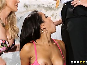 Brandi enjoy lets ho-bo Abbey Lee Brazil fuck her stud