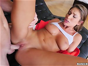 OMFG! I spotted my sista August Ames finger-tickling her twat, and I want to smash her