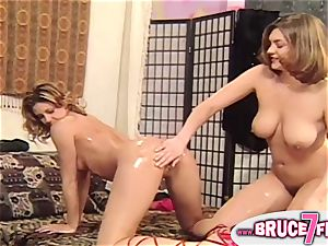 Retro lesbians anally plaything