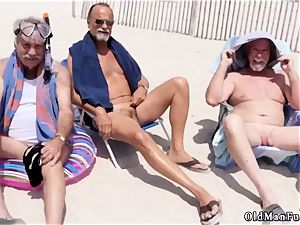 2 older men youthful woman Staycation with a brazilian bombshell