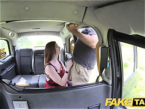 fake cab Olive flesh ginger-haired in undergarments
