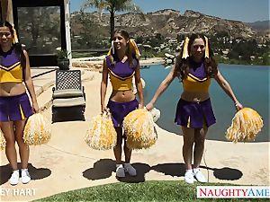 sizzling cheerleader Presley Hart nail outdoors