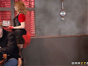 Saloon honey Rose Monroe takes it across table