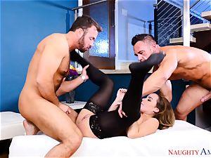 Natasha nice frolicking with two spunk-pumps
