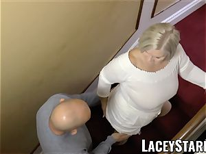LACEYSTARR - busty GILF negotiates a good gash deal