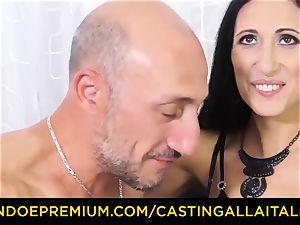 audition ALLA ITALIANA - filthy beginner assfuck casting