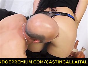 audition ALLA ITALIANA - filthy beginner assfuck casting