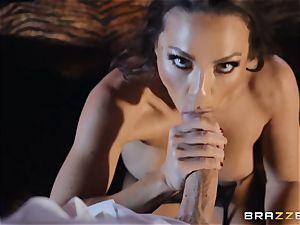 Abigail Mac fills her face with creamy cum