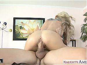 tatted blondie Sarah Jessie fucking