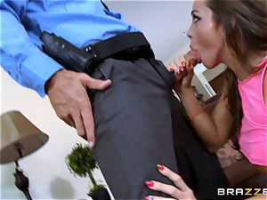 Abigail Mac gets shafted by a super hot cop in uniform
