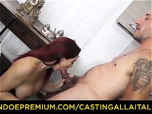 audition ALLA ITALIANA - big-boobed newcummer goes for assfuck hook-up