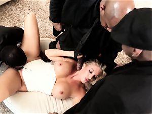 Samantha Saint interracial foursome