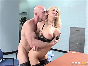 sexy office honey Alix Lynx takes a 2nd helping