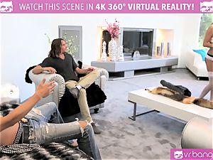 VR fuckers -DILLION HARPER and PRISTINE in molten 4 way