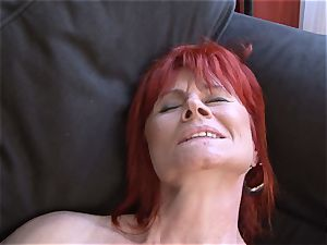 Mature chick bi-racial hard-core vulva romped gulps