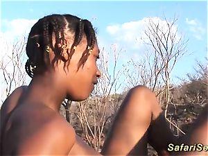 African blow safari fuck-a-thon
