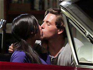 Chloe Amour bangs in her boyfriends fresh car