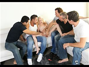 Maddy Rose suffers her first gangbang