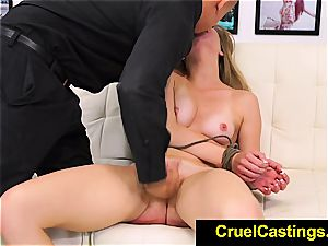 light-haired Trisha Parks sore after a raunchy boning