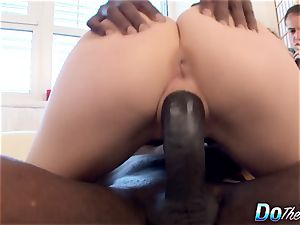 Cuck wifey Alexis Crystal nails dark-hued dude