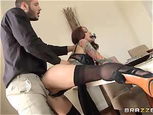 red-haired wifey Monique Alexander getting dicked throughout the dining table