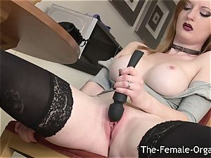 natural ginger-haired stimulates Firebush To Contracting orgasm