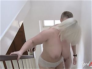 AgedLovE big-titted Lacey Starr xxx and fellatio
