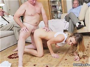 dad care and breakfast hand-job elder stud Molly Earns Her Keep
