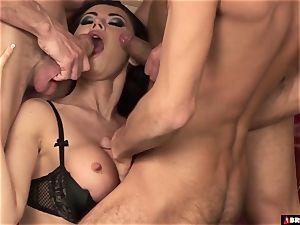 super-steamy honey Eva Karera gangbanged By 3 men