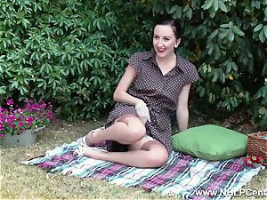 stunner picnic flashing hard mounds trim cunny retro nylons