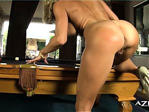 towheaded cougar deep throats fuck stick and fills herself up