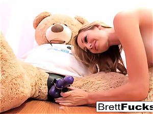Brett Rossi plays with a strap-on fuck stick