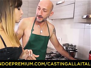 audition ALLA ITALIANA - molten Italian minx gets deep anal invasion