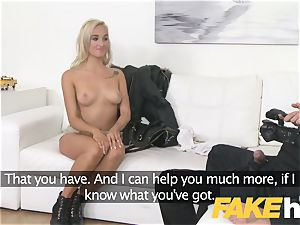 faux Agent european nymph likes giving knocker masturbate and bj
