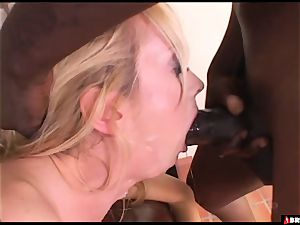 light-haired babe absolutely nasty for big black cock