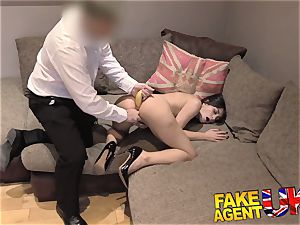 FakeAgentUK super-cute Italian takes a fruity buttfuck pounding