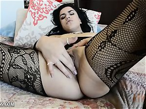 supah super-hot Monica Sage blows a load stiff for you