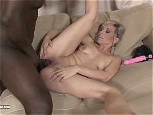 black and milky bbc jizz gulping whore enjoys ebony wood