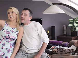 DADDY4K. daddy and young doll enjoy anal sex near his sleeping son-in-law