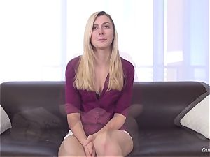 casting session with marvelous platinum-blonde Alexa mercy