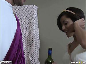 toasted Greek ultra-cutie takes manstick of her new boyfriend
