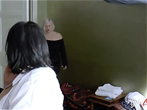 AgedLovE busty hotel Maid Lacey Starr three way