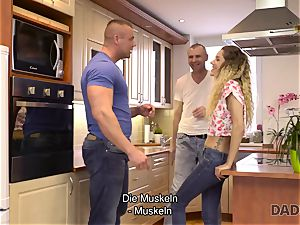 DADDY4K. Mature stud plumbs thin babe in senior and young porno flick