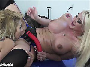 Mature wifey Leya Falcon penalizes her husband's mistress