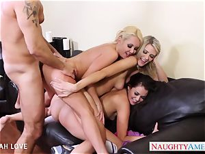 splendid Aaliyah love penetrating in 4some